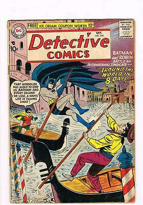Detective Comics # 248 Around the World in 8 Days ! grade 4.5 scarce book !!