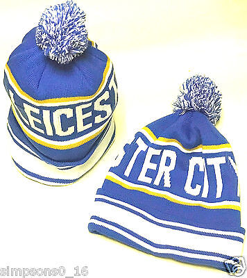 Leicester City Bobble Hats Thicker Warmer Than The Average Hats Football Gifts