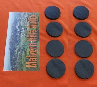 8 x Sorbothane Discs / Feet 35 mm. Diameter x 3mm.  Enhanced Sound & Isolation
