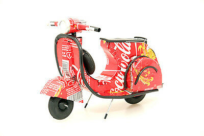 Recycled Tin Can Model:Coke vespa  (and more cans)  - fairly traded
