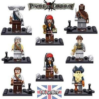 Pirates of the Caribbean - 8 MiniFigure Set - Fitts Lego - Captain Jack Sparrow