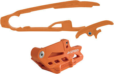 ACERBIS Chain Guide Block and Slider Kit (Orange) 2314050036