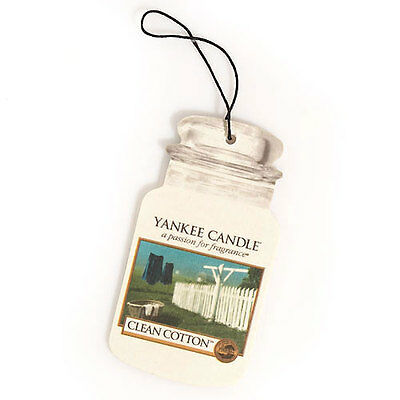 YANKEE CANDLE Car Jar classic Clean Cotton profumatore auto
