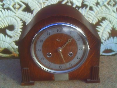 Old Mantel Clock in GWO. An Elco by Perivale. Made in England with Original Key
