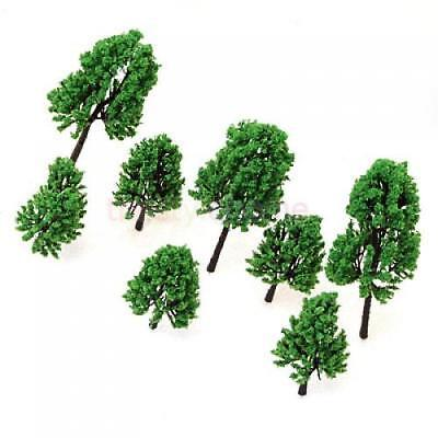 16pcs Green Mixed Size Model Pine Trees RR Train Scenery Landscape S HO Scale