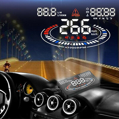 """Excelvan 2D 5.5"""" OBDII Auto HUD Coche Universal Interface HeadUp Display LCD ES"""