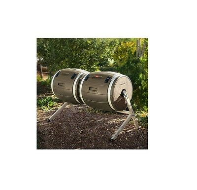 Lifetime Dual Compost Tumbler Perfect for Easy Batch Composting High Density