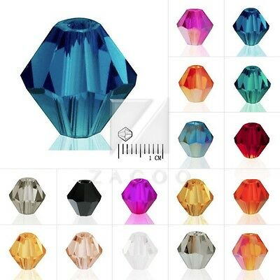 3/4/6/8mm Crystal Beads Bicone Loose for Jewelry Necklace 40/50/120/150pcs