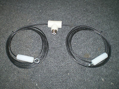 Wire dipole 11m CB 27mhz with  insulators tunable