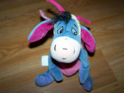 Disney Store Winnie the Pooh Easter Butterfly Eeyore Bean Bag Plush Donkey EUC