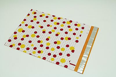 200 Bags 100 10x13 Dots, 100 10x13 Pink Flowers Designer Poly Mailers Envelopes