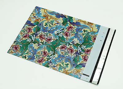 200 Bags 100 10x13 Paisley, 100 10x13 Pink Flowers Designer Poly Mailer Envelope