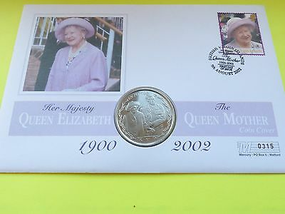 The Queen Mother crown 1990-2002. Stamp Coin Cover FDC