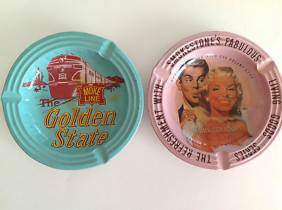 Vintage Antiques American Ashtrays Set of 2 / Made In Japan