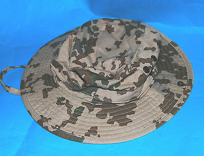 German Camo Bush Hat & Strap (Aa)
