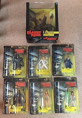 """Planet Of The Apes Hasbro Carded Figures & Thade 12"""" Boxed Limbo Attar Krull"""