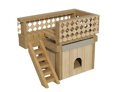 Plans to build a Small sized Dog House with a Roof Deck (DIY Plans)