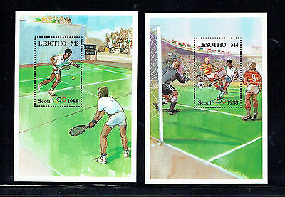 Lesotho 1988 Olympic Games MS x 2 unmounted mint