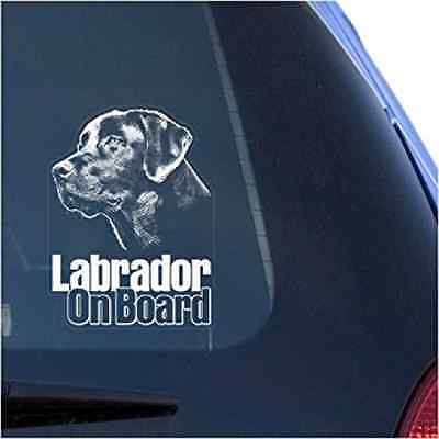 Lab Labrador Retriever Clear Decal Sticker for Window, Black Labs Dog Sign Art P