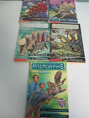 Lot of 5 Animorphs Series K.A. Applegate Scholastic 5th Grade ...  See Details