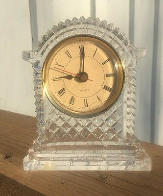 Vintage Crystal Quartz Clock