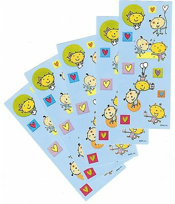 5 Small Sheets Happy Playful Fun CAT Heart Stickers!