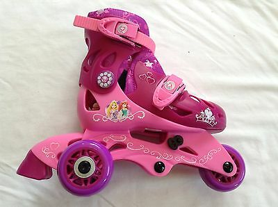 Disney Princess Adjustable 2-in-1 Convertible Trainer Skates Kids Size 6-9