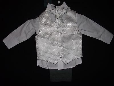 Baby Boys Occasion Christening 4 Piece  Outfit Suit 3-6 months by Paisley London