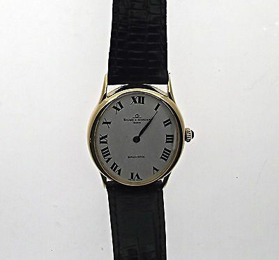 Men's 18k Yellow Gold Vintage Baume Mercier Automatic Watch Swiss Made