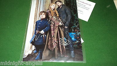 game of thrones cast by 3 SIGNED PHOTO COA a