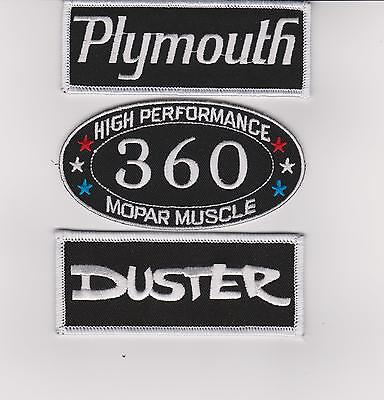 Plymouth: Duster 360 Sew/iron On Patch Badge Emblem Embroidered Mopar Hemi Car