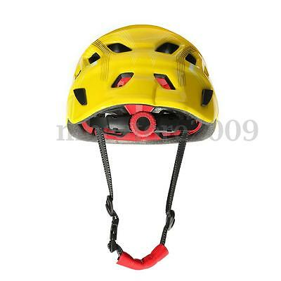 Safety Rock Climbing Downhill Caving Rappelling Rescue Helmet Protector Yellow