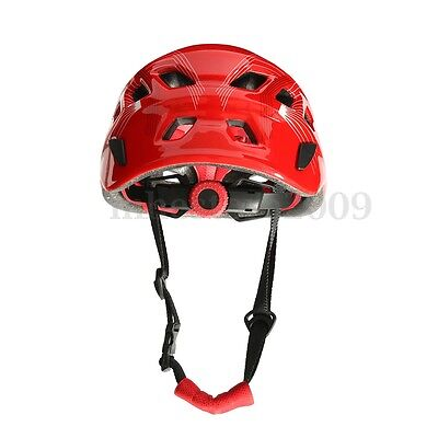 Safety Rock Climbing Downhill Caving Rappelling Rescue Helmet Protector Red
