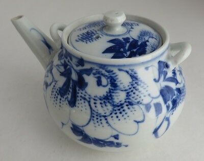 Small Decorative Ceramic Blue Flower Teapot              (Inv4213)