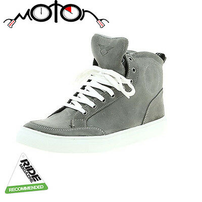 Prexport Street Motorcycle Boots - Grey - Technical Trainers