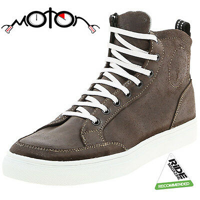 Prexport Street Motorcycle Boots - Brown - Technical Trainers