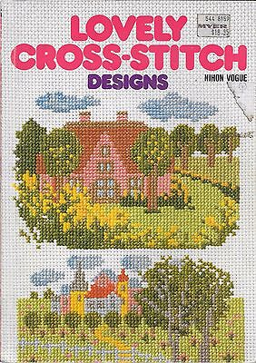 Lovely cross stitch designs Nihon Vogue vintage 1986 needlepoint book patterns
