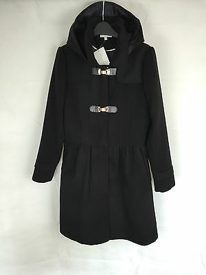 BHS Girls Black Hooded Winter Jacket Coat in Size 11-12 13-14 15-16 Years (95)