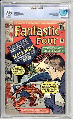 Fantastic Four # 22  Return of the Mole Man !  CBCS 7.5 scarce book !