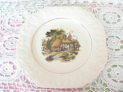 Vintage Old Retro Lord Nelson Pottery Shabby China Inn Mill House Cake Plate