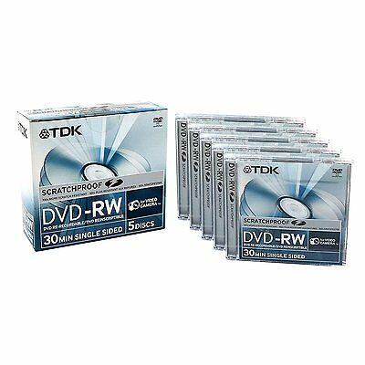 TDK DVD-RW ScratchProof Camcorder Tape | 1.4 GB Single Sided | 30 min