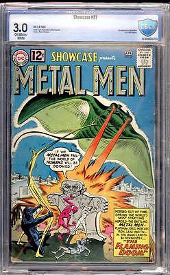 Showcase # 37  1st appearance of the Metal Men !  CBCS 3.0 scarce book !