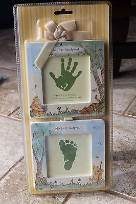 My Baby's First Prints Handprint Footprint Winnie the Pooh Picture Frame Set