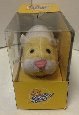 Zhu Zhu Pets 'Patches' (2009) Yellow and White Hamster - New in Box Factory Seal