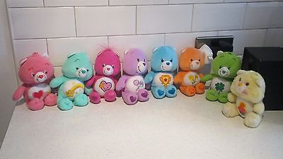 """Lot 9"""" Soft Toy Care Bears X 8 Assorted"""