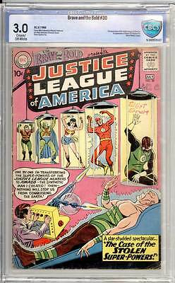 Brave & the Bold # 30  3rd appearance Justice League !   grade 3.0 scarce book !