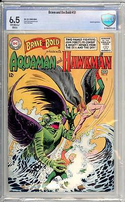 Brave & the Bold # 51  Presenting Aquaman & Hawkman !   grade 6.5 scarce book !