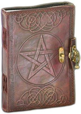 Pentagram on Leather Locking Book of Shadows!