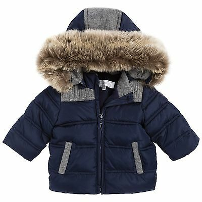 Tartine Et Chocolat Baby Puffer Coat And Fur Trim 1 Year