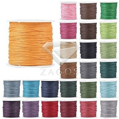 80m/Roll Round Waxed Cotton Cord String  Jewellery Bracelet DIY 0.5/1/1.5/2mm